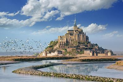 Die Sehenswürdigkeit in der Normandie schlechthin: Der Mont St. Michel mit jährlich 3,5 Millionen Besuchern